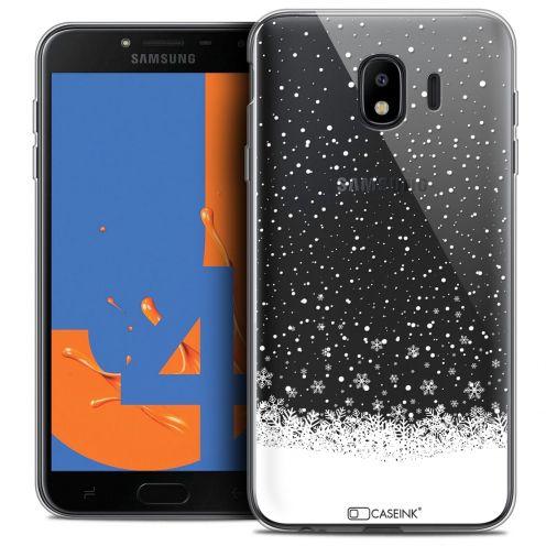 "Coque Crystal Gel Samsung Galaxy J4 2018 J400 (5.5"") Extra Fine Noël 2017 - Flocons de Neige"