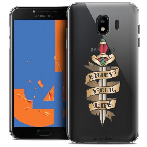 "Coque Crystal Gel Samsung Galaxy J4 2018 J400 (5.5"") Extra Fine Tatoo Lover - Enjoy Life"