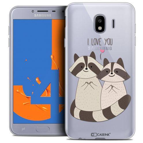 "Coque Crystal Gel Samsung Galaxy J4 2018 J400 (5.5"") Extra Fine Sweetie - Racoon Love"