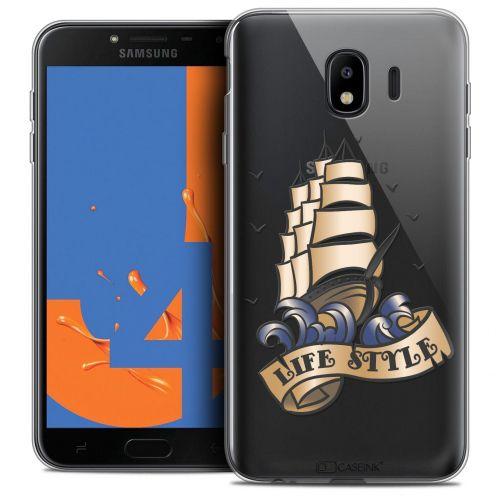 "Coque Crystal Gel Samsung Galaxy J4 2018 J400 (5.5"") Extra Fine Tatoo Lover - Life Style"
