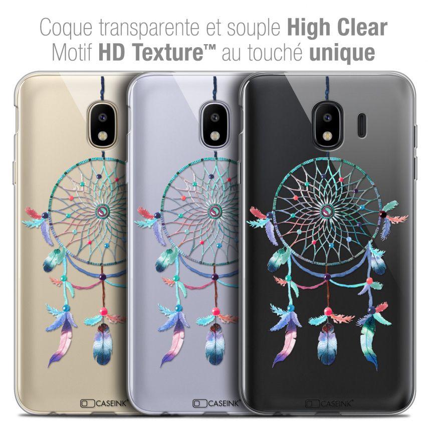 """Coque Crystal Gel Samsung Galaxy J4 2018 J400 (5.5"""") Extra Fine Dreamy - Attrape Rêves Rainbow"""