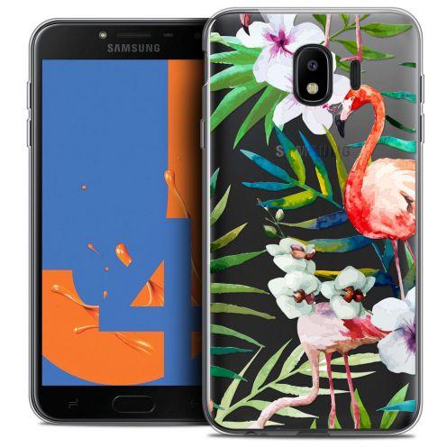 """Coque Crystal Gel Samsung Galaxy J4 2018 J400 (5.5"""") Extra Fine Watercolor - Tropical Flamingo"""