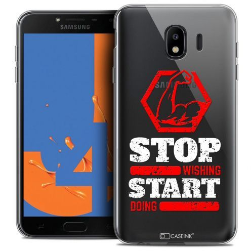 """Coque Crystal Gel Samsung Galaxy J4 2018 J400 (5.5"""") Extra Fine Quote - Start Doing"""