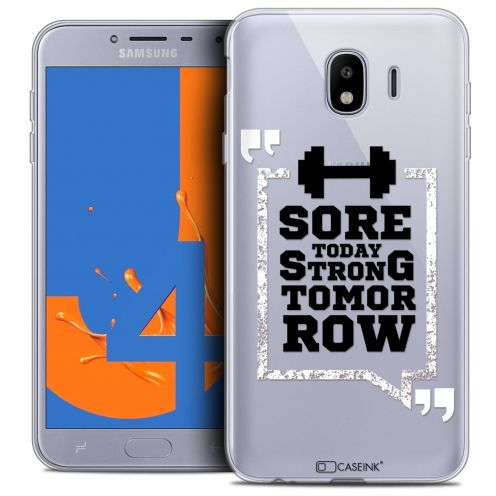 """Coque Crystal Gel Samsung Galaxy J4 2018 J400 (5.5"""") Extra Fine Quote - Strong Tomorrow"""
