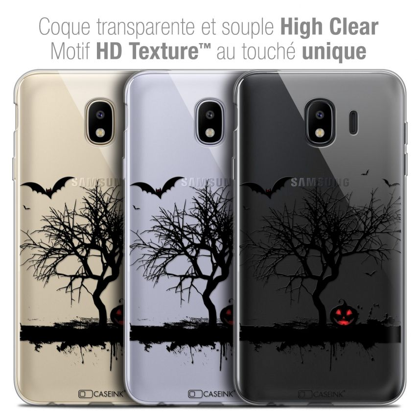 "Coque Crystal Gel Samsung Galaxy J4 2018 J400 (5.5"") Extra Fine Halloween - Devil's Tree"