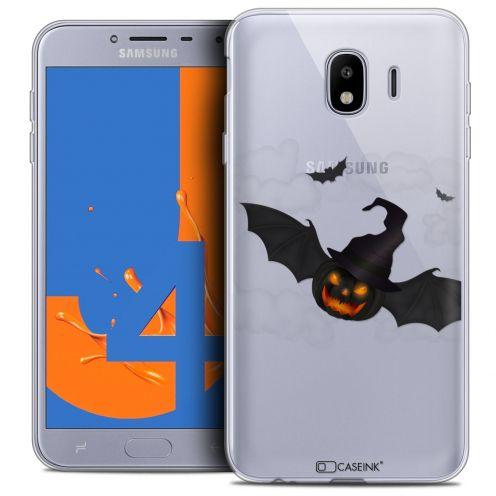 "Coque Crystal Gel Samsung Galaxy J4 2018 J400 (5.5"") Extra Fine Halloween - Chauve Citrouille"