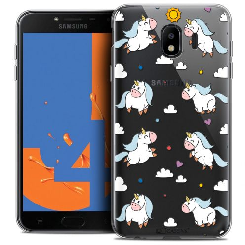 "Coque Crystal Gel Samsung Galaxy J4 2018 J400 (5.5"") Extra Fine Fantasia - Licorne In the Sky"