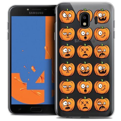 "Coque Crystal Gel Samsung Galaxy J4 2018 J400 (5.5"") Extra Fine Halloween - Cartoon Citrouille"