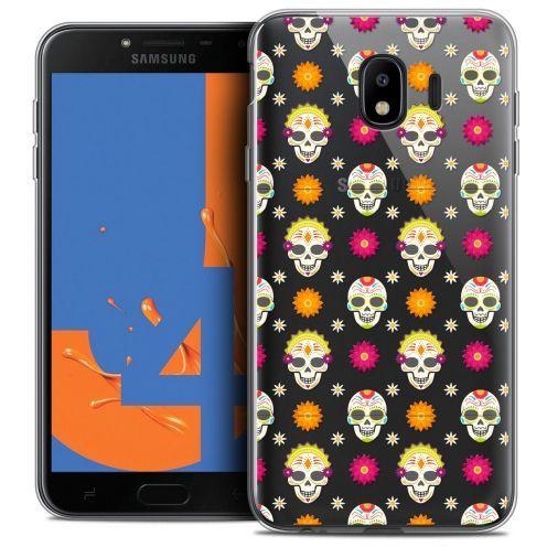 """Coque Crystal Gel Samsung Galaxy J4 2018 J400 (5.5"""") Extra Fine Halloween - Skull Halloween"""