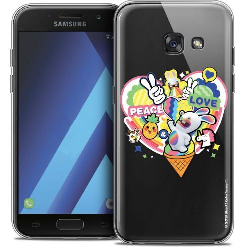 """Coque Gel Samsung Galaxy A7 2017 A700 (5.7"""") Extra Fine Lapins Crétins™ - Peace And Love"""