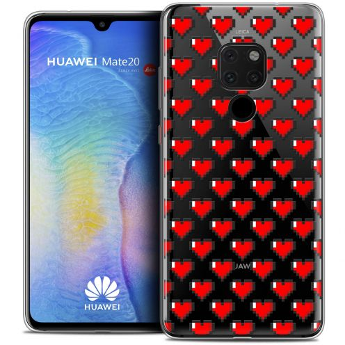 "Coque Crystal Gel Xiaomi Mate 20 (6.5"") Extra Fine Love - Pixel Art"