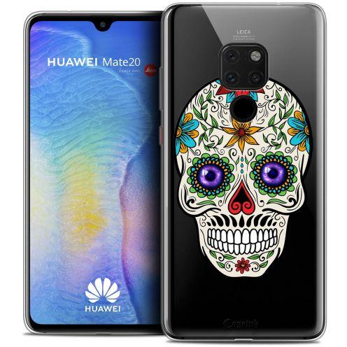 "Coque Crystal Gel Xiaomi Mate 20 (6.5"") Extra Fine Skull - Maria's Flower"