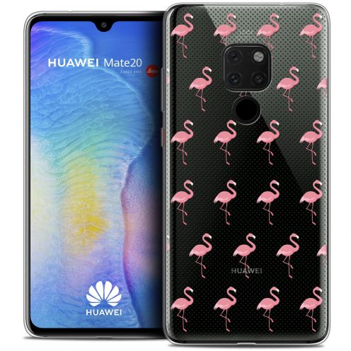 "Coque Crystal Gel Xiaomi Mate 20 (6.5"") Extra Fine Pattern - Les flamants Roses Dots"