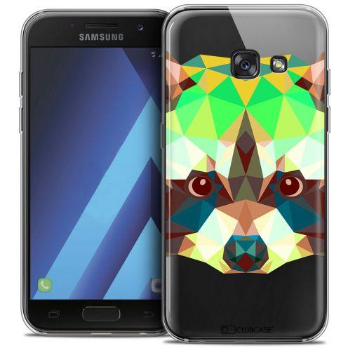 """Coque Crystal Gel Samsung Galaxy A7 2017 A700 (5.7"""") Extra Fine Polygon Animals - Raton Laveur"""