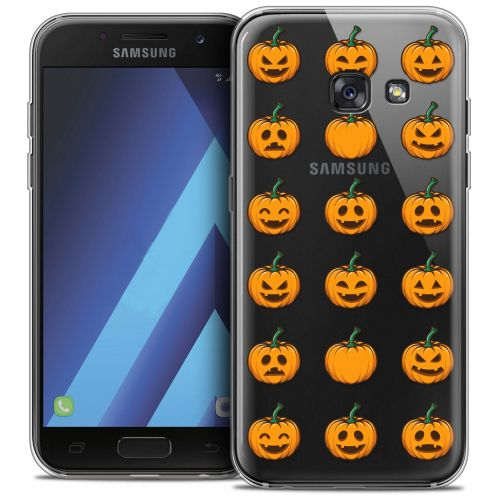 "Coque Crystal Gel Samsung Galaxy A7 2017 A700 (5.7"") Extra Fine Halloween - Smiley Citrouille"