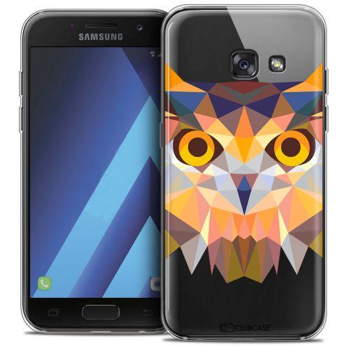 """Coque Crystal Gel Samsung Galaxy A7 2017 A700 (5.7"""") Extra Fine Polygon Animals - Hibou"""