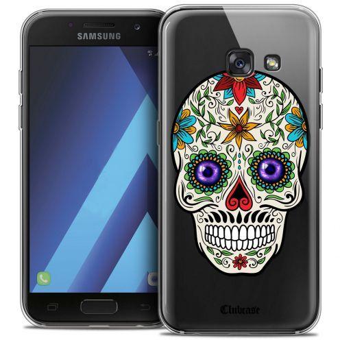 """Coque Crystal Gel Samsung Galaxy A7 2017 A700 (5.7"""") Extra Fine Skull - Maria's Flower"""