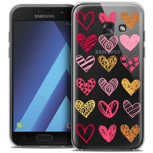 "Coque Crystal Gel Samsung Galaxy A7 2017 A700 (5.7"") Extra Fine Sweetie - Doodling Hearts"