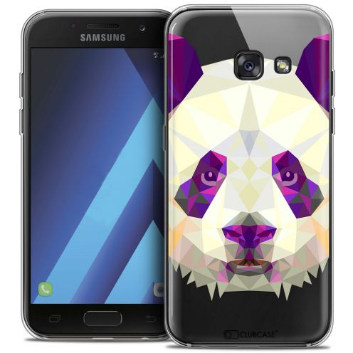 "Coque Crystal Gel Samsung Galaxy A7 2017 A700 (5.7"") Extra Fine Polygon Animals - Panda"