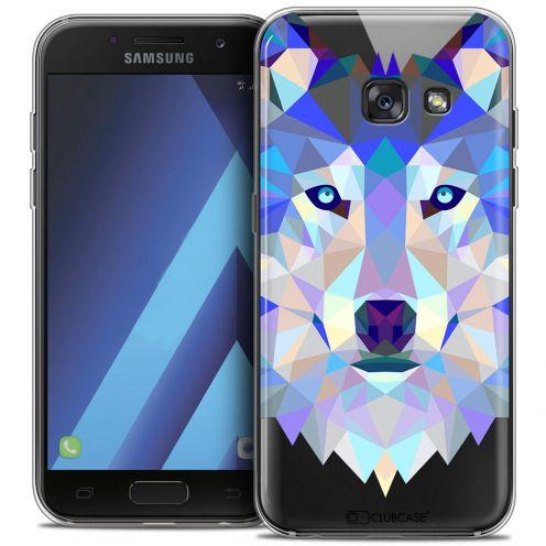 """Coque Crystal Gel Samsung Galaxy A7 2017 A700 (5.7"""") Extra Fine Polygon Animals - Loup"""