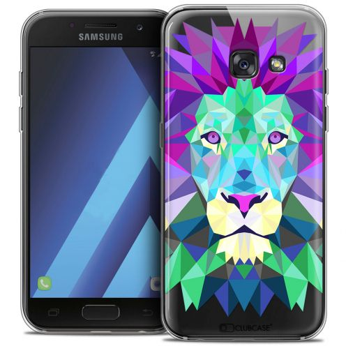 """Coque Crystal Gel Samsung Galaxy A7 2017 A700 (5.7"""") Extra Fine Polygon Animals - Lion"""