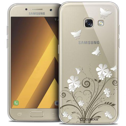 "Coque Crystal Gel Samsung Galaxy A7 2017 A700 (5.7"") Extra Fine Summer - Papillons"