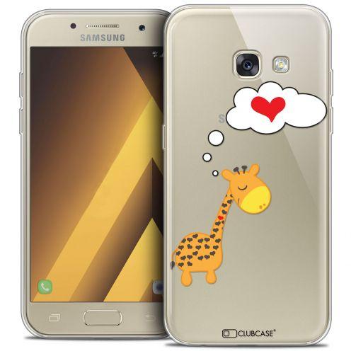 "Coque Crystal Gel Samsung Galaxy A7 2017 A700 (5.7"") Extra Fine Love - Girafe Amoureuse"