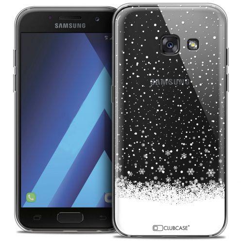 "Coque Crystal Gel Samsung Galaxy A7 2017 A700 (5.7"") Extra Fine Noël 2017 - Flocons de Neige"