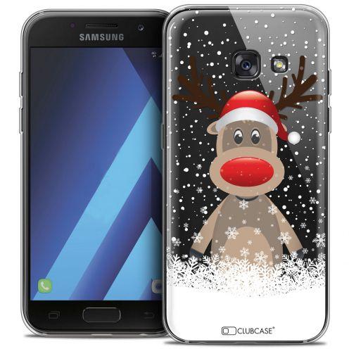 """Coque Crystal Gel Samsung Galaxy A7 2017 A700 (5.7"""") Extra Fine Noël 2017 - Cerf au Bonnet"""