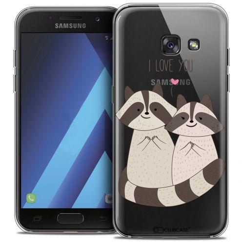 "Coque Crystal Gel Samsung Galaxy A7 2017 A700 (5.7"") Extra Fine Sweetie - Racoon Love"