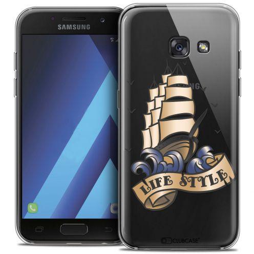 "Coque Crystal Gel Samsung Galaxy A7 2017 A700 (5.7"") Extra Fine Tatoo Lover - Life Style"