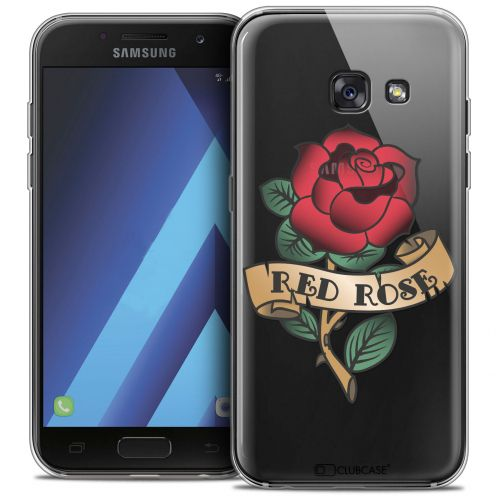 """Coque Crystal Gel Samsung Galaxy A7 2017 A700 (5.7"""") Extra Fine Tatoo Lover - Red Rose"""