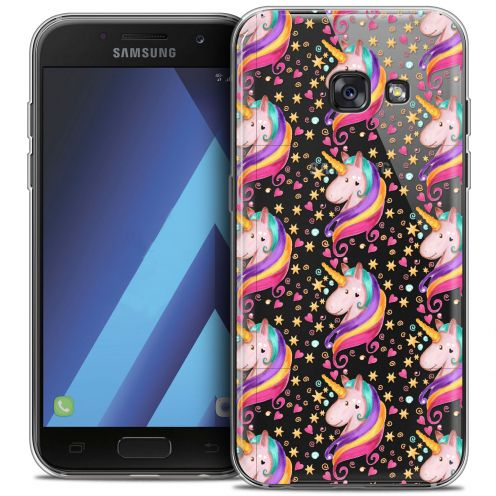 """Coque Crystal Gel Samsung Galaxy A7 2017 A700 (5.7"""") Extra Fine Fantasia - Licorne Etoilée"""