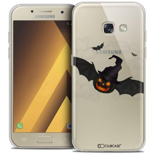 "Coque Crystal Gel Samsung Galaxy A7 2017 A700 (5.7"") Extra Fine Halloween - Chauve Citrouille"