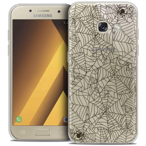 "Coque Crystal Gel Samsung Galaxy A7 2017 A700 (5.7"") Extra Fine Halloween - Spooky Spider"