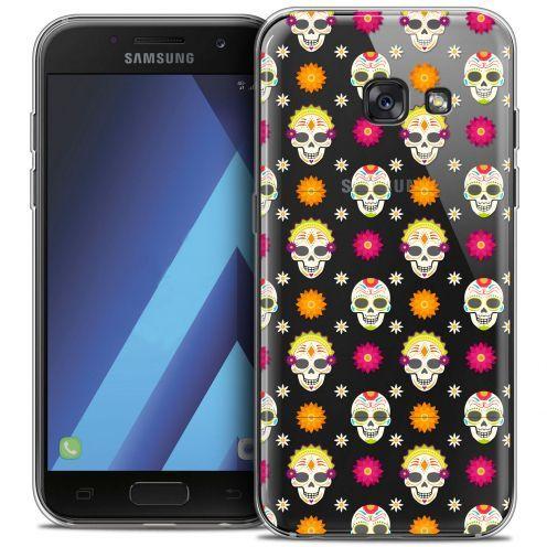 "Coque Crystal Gel Samsung Galaxy A7 2017 A700 (5.7"") Extra Fine Halloween - Skull Halloween"