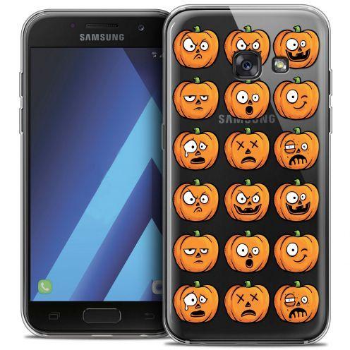 "Coque Crystal Gel Samsung Galaxy A7 2017 A700 (5.7"") Extra Fine Halloween - Cartoon Citrouille"