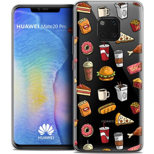 "Coque Crystal Gel Xiaomi Mate 20 PRO (6.4"") Extra Fine Foodie - Fast Food"