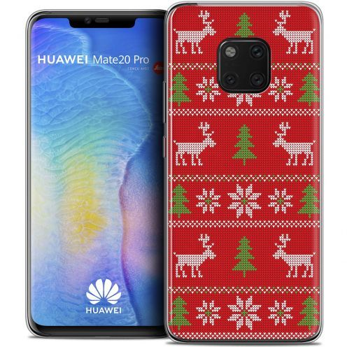 "Coque Crystal Gel Huawei Mate 20 PRO (6.4"") Extra Fine Noël 2017 - Couture Rouge"