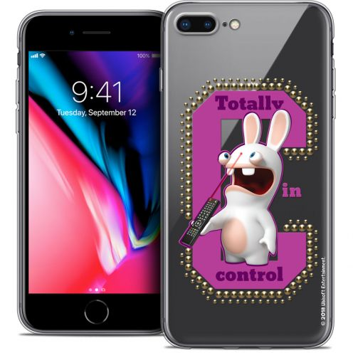 """Coque Gel Apple iPhone 8 Plus (5.5"""") Extra Fine Lapins Crétins™ - In Control !"""