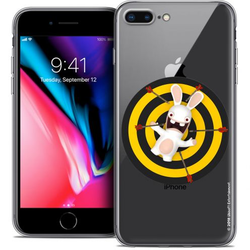 """Coque Gel Apple iPhone 8 Plus (5.5"""") Extra Fine Lapins Crétins™ - Target"""