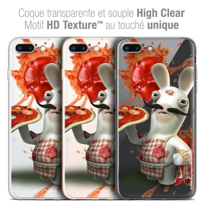 "Coque Gel Apple iPhone 7 Plus (5.5"") Extra Fine Lapins Crétins™ - Cuisinier"