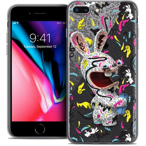 """Coque Gel Apple iPhone 7 Plus (5.5"""") Extra Fine Lapins Crétins™ - Tag"""