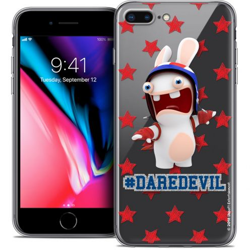 "Coque Gel Apple iPhone 7 Plus (5.5"") Extra Fine Lapins Crétins™ - Dare Devil"