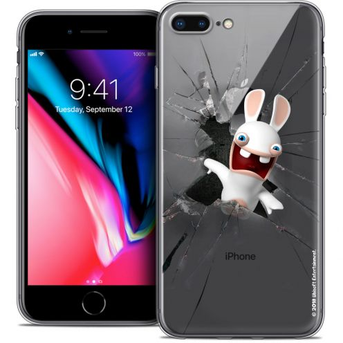 """Coque Gel Apple iPhone 7 Plus (5.5"""") Extra Fine Lapins Crétins™ - Breaking Glass"""