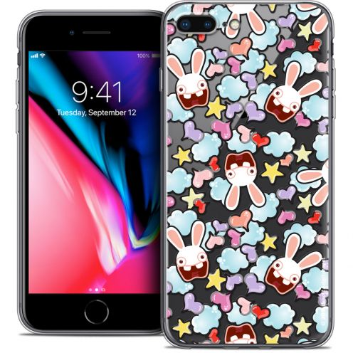 "Coque Gel Apple iPhone 7 Plus (5.5"") Extra Fine Lapins Crétins™ - Love Pattern"