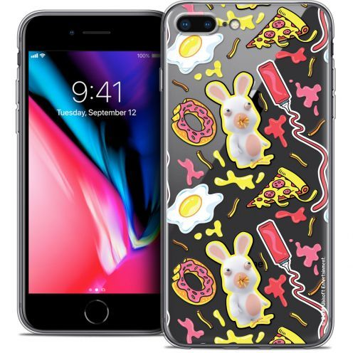 "Coque Gel Apple iPhone 7 Plus (5.5"") Extra Fine Lapins Crétins™ - Egg Pattern"