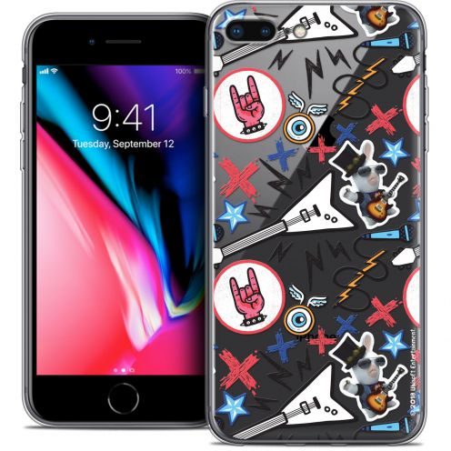 "Coque Gel Apple iPhone 7 Plus (5.5"") Extra Fine Lapins Crétins™ - Rock Pattern"