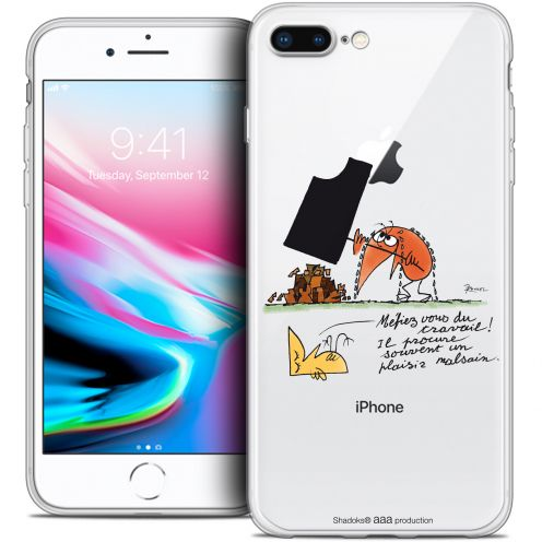 "Coque Gel Apple iPhone 7 Plus (5.5"") Extra Fine Les Shadoks® - Le Travail"