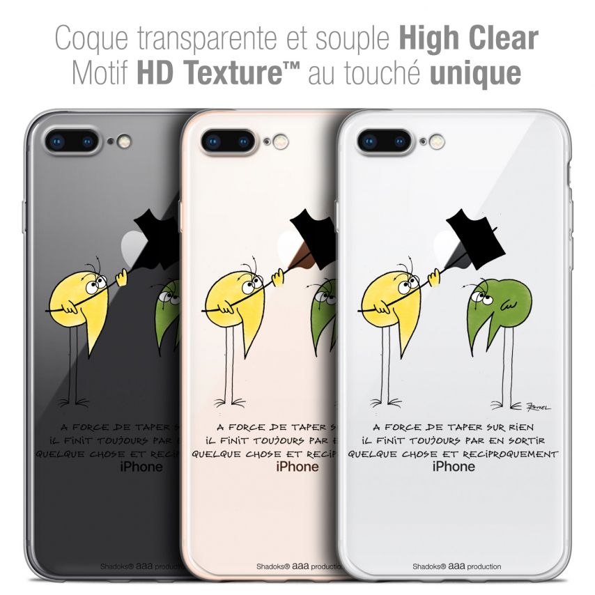"Coque Gel Apple iPhone 7 Plus (5.5"") Extra Fine Les Shadoks® - A Force"